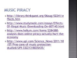 sources for persuasive essay body paragraph activity ppt  12 music piracy