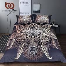 bohemian duvet lotus bedding set queen size flower cover sun print bed king quilt by bambury bohemian duvet bedding sets