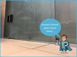 crystal clear shower glass is only a hero away we can fix it fast protect it against future staining and reduce shower glass cleaning time by 90