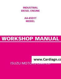 isuzu industrial engine aa 6sd1t workshop manual pdf