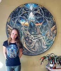 Kostenlose mandala vorlagen für kinder mit wunderschönen motiven zum thema kindergeburtstag und kinderfest. Morgan Mandala Matching With My Painting Trinity Facebook