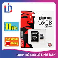 Thẻ nhớ micro SD kingston 16GB class 10 - Tem FPT, Vĩnh xuân