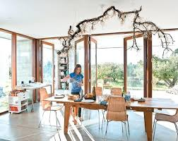 luxury branch crystal chandelier and view in gallery prefab concrete farmhouse cypress slab table salvaged branch