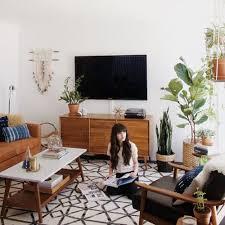 Mid Century Modern Living Room Tv