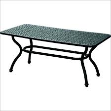 side table wrought iron glass top coffee tables black patio base