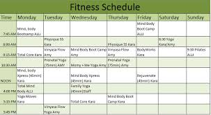 Fitness Schedule Template – 7 Free Templates | Schedule Templates