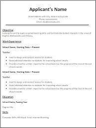 Resume Templates Microsoft Word 2007 Stunning Teacher Resume Templates Microsoft Word 28 Teacher Resume