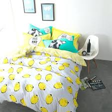 yellow bedding sets lemon printed quilt cover bedsheet pillowcase 100 cotton bed set juegos de cama