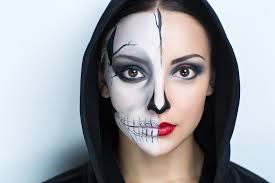 how to apply basic horror face makeup