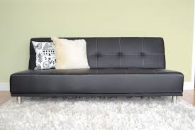 stylish black faux leather futon with brown faux leather futon sofa bed tmidb home furnishings