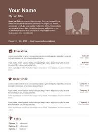 12 Free Minimalist Professional Microsoft Docx And Google Docs Cv