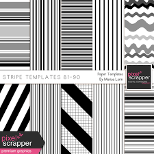 Stripe Templates Stripe Paper Template Kit 81 90 By Marisa Lerin Graphics Kit