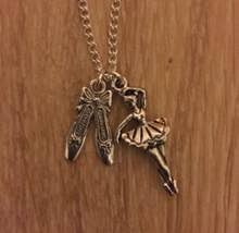 ballerina ballet shoes necklace pendants vine silver collar statement charms chain choke women accessories jewelry diy gift