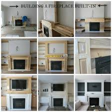how to build a beautiful fireplace built ins with shelving cupboards mantle and
