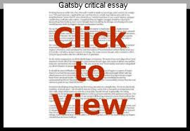 gatsby critical essay college paper help gatsby critical essay critical essays on the great gatsby the great gatsby critical essays