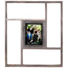 barn wood picture frames. Rustic Reclaimed Barn Wood Shelf With Picture Frames - 8 By 10 Photo