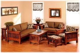 wood sofa set cushions