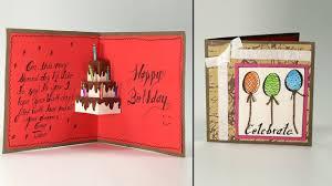 Birthday On Day Card Handmade Birthday Greeting Card Cake Pop Up Birthday Card Step By