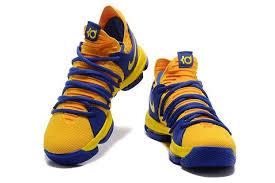 nike basketball shoes 2017 kd. 2017 nike kd 10 blue men yellow basketball shoes / hyperdunk flyknit multicolor
