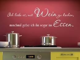 Wandtattoo Spruch Ich Liebe Es Mit Wein Zu Kochen Manchmal Gebe