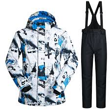 <b>Ski Suit</b> Men Winter <b>New Outdoor</b> Windproof Waterproof Thermal ...