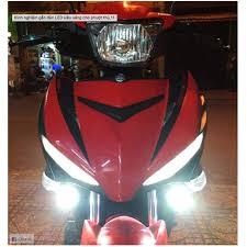 đèn pha led bi cầu mini 2 chế độ cos trắng pha vàng xe máy hộp vuông ko có  cục nguồn, Giá tháng 11/2020
