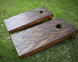 Wooden Corn Hole Game Cornhole boards Etsy 100