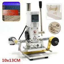 <b>Hot</b> Foil Leather Embossing Stamping Machine 10*<b>13CM</b> 110V ...