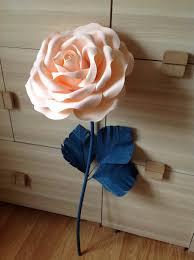 Paper Flower Stems Giant Paper Flower Stem Paper Flowers Lagre Paper Etsy
