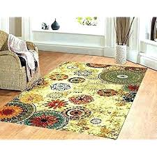 bright fl area rugs solid color green blue rug furniture