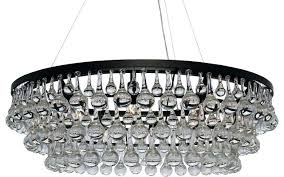 glass drop chandelier chic contemporary crystal black brass glass drop chandelier