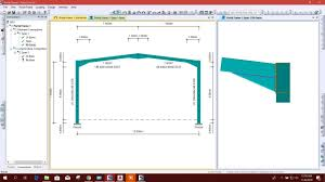 Portal Frame Design Software Portal Frame Design In Tekla Portal Frame Connection Designer