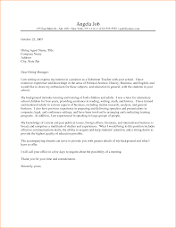 Pro Cover Letter For Early Childhood Teachers Template With Address