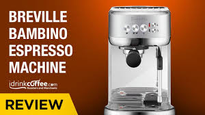 It means that experts have approved it; Idrinkcoffee Com Review Breville Bambino Compact Espresso Machine Youtube