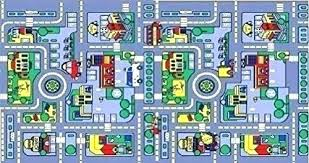 kids city rug city map carpet soft play mat baby toys crawling pads for kids area