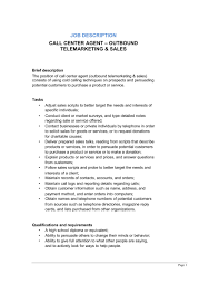 call center agent outbound_telemarketing sales job description call center job descriptions