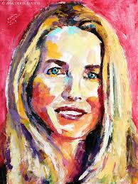 laurene powell jobs derek russell laurene powell jobs original portrait pop art painting by derek russell