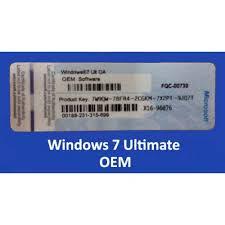 windows 7 ultimate 64 bit coa stickers