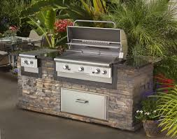Steel Frame Outdoor Kitchen Outdoor Barbecue Island Kit In Outdoor Kitchen Island Using