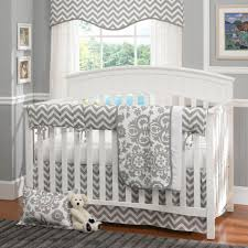 grey zigzag short curtain image cool pictures of baby nursery room design with neutral baby bedding set interesting uni baby