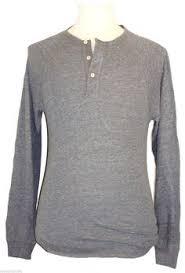 lucky brand long sleeve cotton blues solid thermal shirt lucky brand mens shirt henley long sleeve raglan cotton knit grey sz 2xl xxl