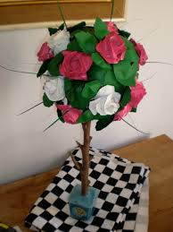 Alice In Wonderland Decorations Origami Rose Trees Made By Toya