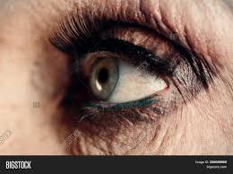 old woman eye makeup for older women mascara and blue eyes with wrinkles