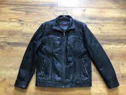 men s leather jacket boston