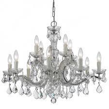 crystorama maria theresa 12 light clear crystal chrome chandelier i
