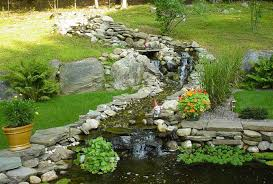 small pond waterfall designs garden with stone stream and small waterfalls streams