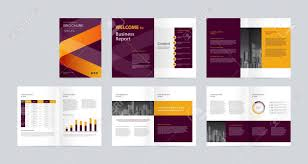Magazine Content Page Layout Design Template Layout Design With Cover Page For Company Profile Annual