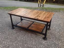 black iron pipe table. recycled pallet coffee table with threaded metal pipe base black iron a