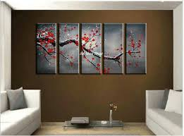 2018 canvas wall art cheap abstract wall decor red cherry blossom handmade picture oil painting set supplies home decoration from whywhy009  on wall art pieces decorating with 2018 canvas wall art cheap abstract wall decor red cherry blossom