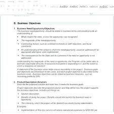 Business Requirement Document Format Sample Template Analysis ...